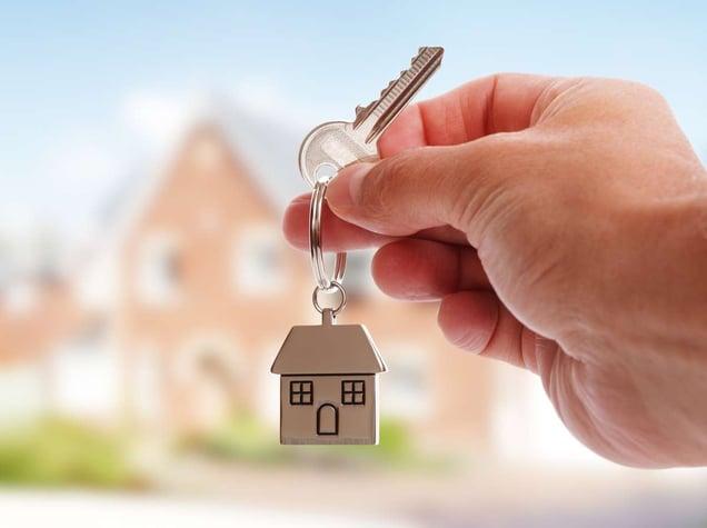 Giving house keys (R) (S)